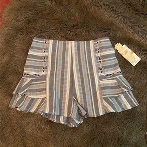 Cute GB Chambray Striped Shorts NWT